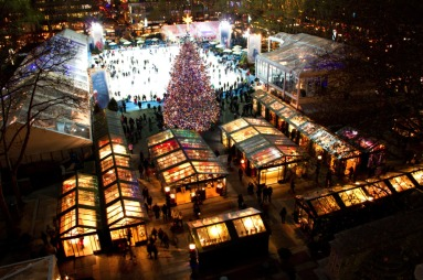 Bryant Park Holiday Market in New York City