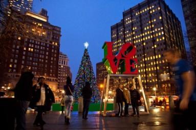 Philadelphia's Christmas Village at Love Park